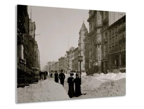 Fifth Avenue after a Snow Storm, New York--Metal Print