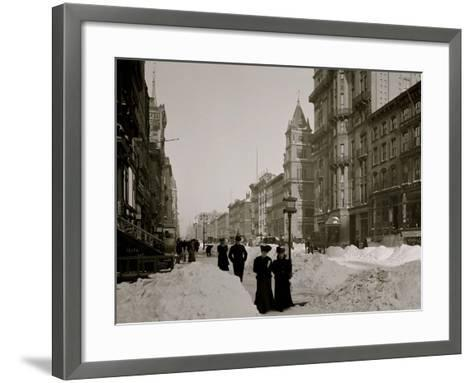 Fifth Avenue after a Snow Storm, New York--Framed Art Print