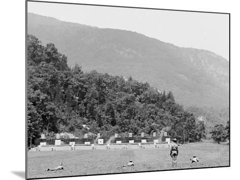 Skirmish Target Practice at 200 Yards, West Point, N.Y.--Mounted Photo