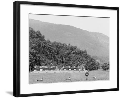 Skirmish Target Practice at 200 Yards, West Point, N.Y.--Framed Art Print