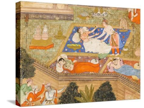 King Putraka in the Palace of the Beautiful Patali--Stretched Canvas Print