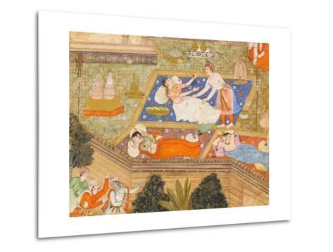 King Putraka in the Palace of the Beautiful Patali--Metal Print