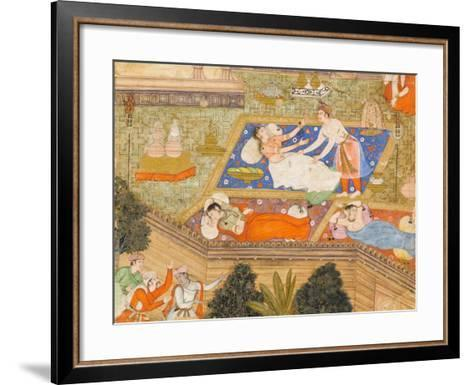 King Putraka in the Palace of the Beautiful Patali--Framed Art Print