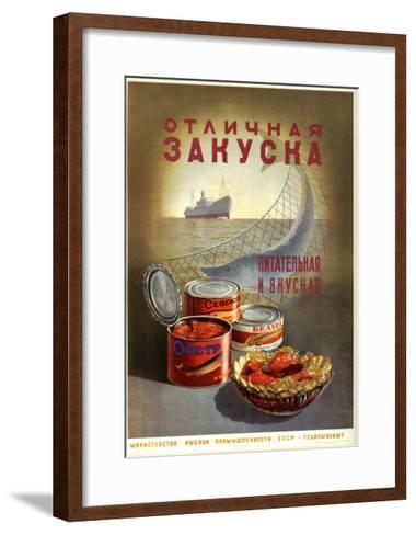 Tasty and Delicious Sturgeon and Beluga--Framed Art Print