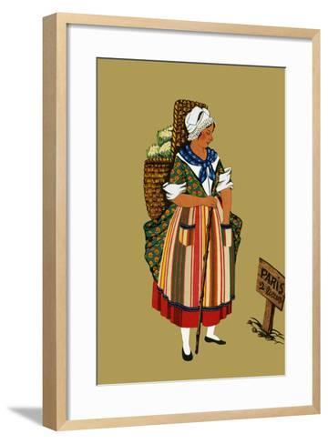 Vegetable Merchant from the Vicinity of Paris-Elizabeth Whitney Moffat-Framed Art Print