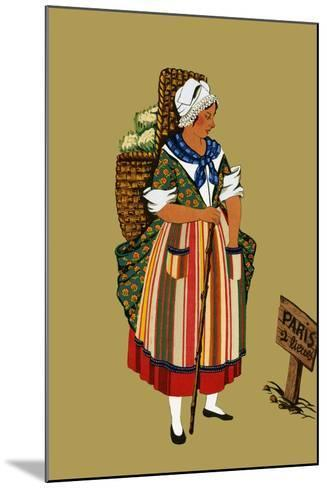 Vegetable Merchant from the Vicinity of Paris-Elizabeth Whitney Moffat-Mounted Art Print