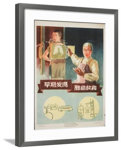 Physician Gives a Young Man a Lung X-Ray--Framed Art Print