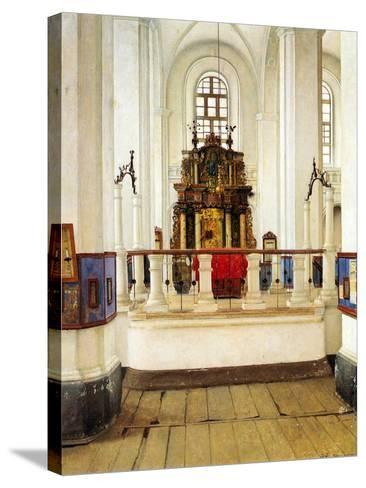 Interior of the Brody Synagogue-Isidor Kaufmann-Stretched Canvas Print
