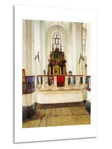 Interior of the Brody Synagogue-Isidor Kaufmann-Metal Print