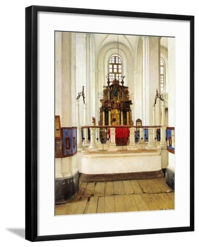 Interior of the Brody Synagogue-Isidor Kaufmann-Framed Art Print