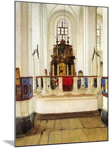 Interior of the Brody Synagogue-Isidor Kaufmann-Mounted Art Print