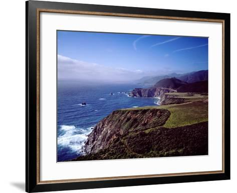 Pacific Ocean and Rocky California Coast-Carol Highsmith-Framed Art Print