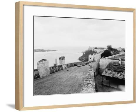 General View from Top of Cabanas Castle--Framed Art Print