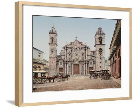 La Catedral, Havana, Cathedral of the Virgin Mary of the Immaculate Conception-William Henry Jackson-Framed Art Print
