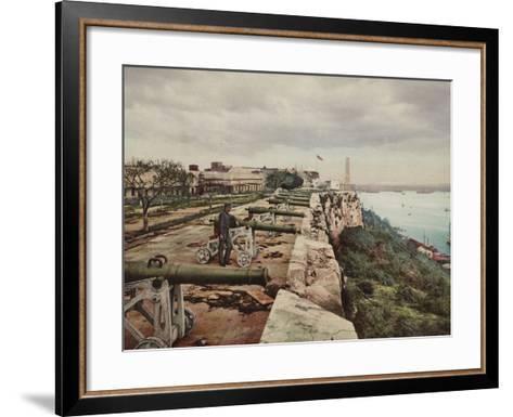 El Parapeto De La Cabana, Havana-William Henry Jackson-Framed Art Print