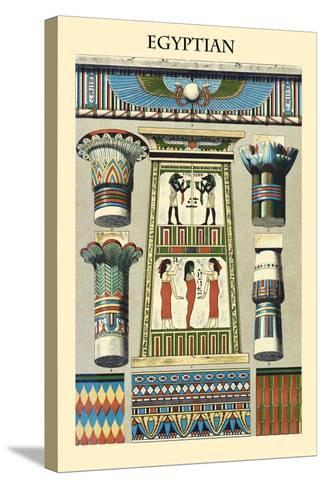 Ornament-Egyptian-Racinet-Stretched Canvas Print