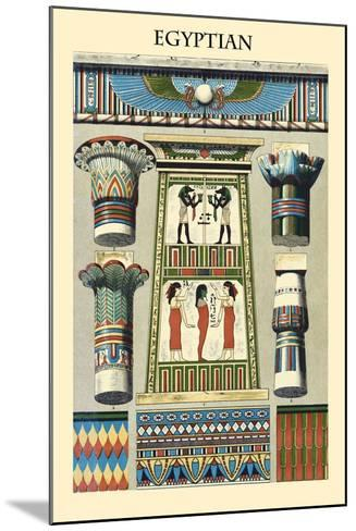 Ornament-Egyptian-Racinet-Mounted Art Print