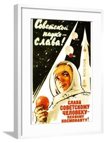 Long Live Soviet Science, Long Live the Soviet Man--Framed Art Print