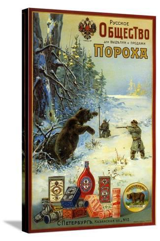 Russian Society for Productin of Gunpowder - Hunting Bears in Siberia--Stretched Canvas Print