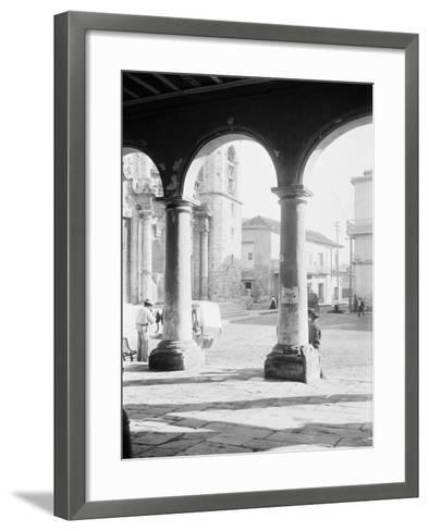 Front of Cathedral, a Bit of Old Havana, Cuba--Framed Art Print
