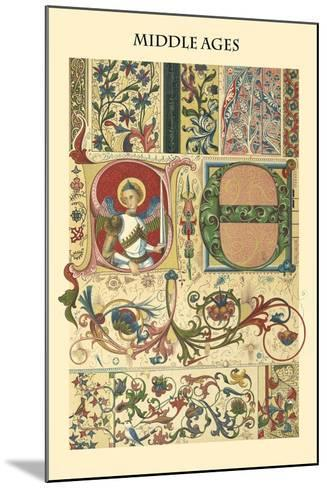 Ornament-Middle Ages-Racinet-Mounted Art Print