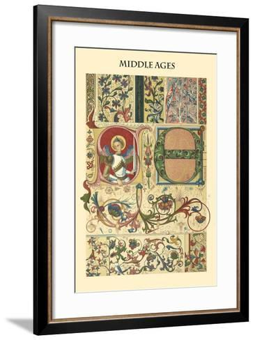 Ornament-Middle Ages-Racinet-Framed Art Print