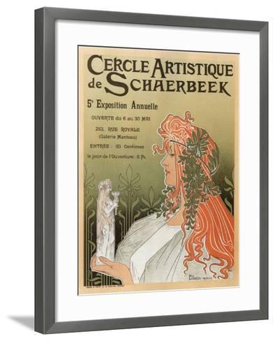 Artistic Club of Schaerbeek; 5th Annual Show-Henri Privat-Livemont-Framed Art Print