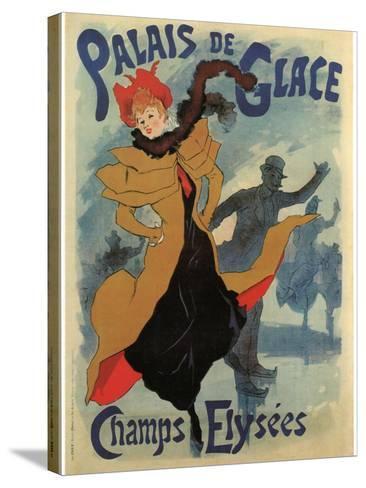 Palace De Glace-Jules Ch?ret-Stretched Canvas Print