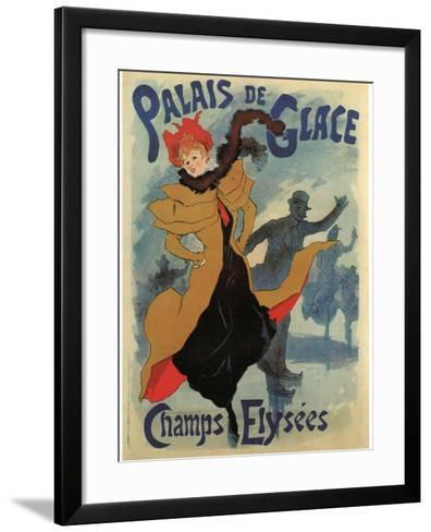 Palace De Glace-Jules Ch?ret-Framed Art Print