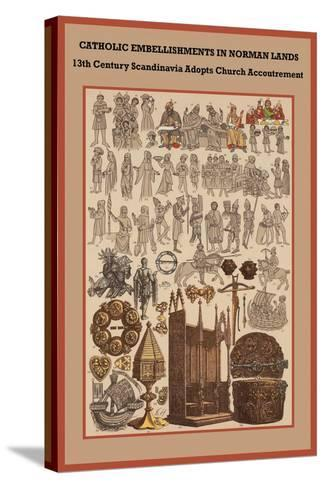 Catholic Embellishments in Norman Lands-Friedrich Hottenroth-Stretched Canvas Print