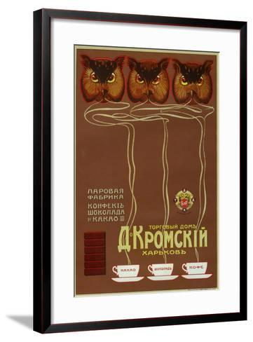As Wise as Owls, Drink Kromsky Cocoa, Candies and Chocolate--Framed Art Print