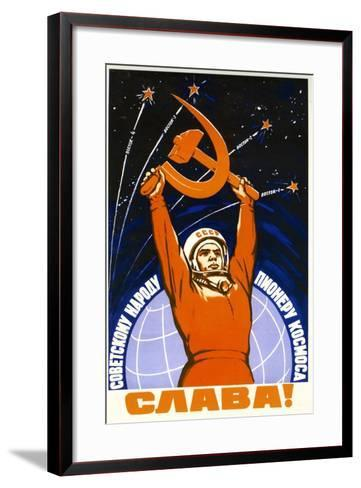 Long Live the Soviet People and its Pioneers--Framed Art Print
