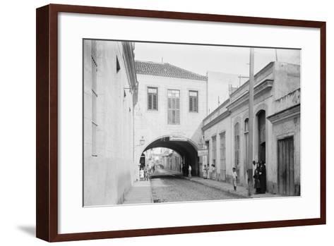 Calle Acosta, a Bit of Havana, Cuba--Framed Art Print