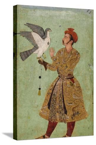 Prince with Falcon--Stretched Canvas Print