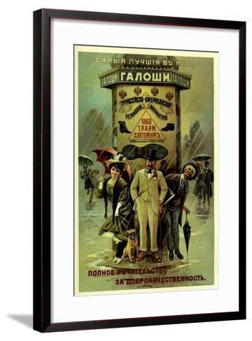Guaranteed World's Best Galoshes - Russian American--Framed Art Print
