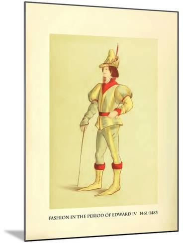 Fashion in the Period of Edward IV-Lewis Wingfield-Mounted Art Print