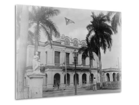 Theatre, Cienfuegos, Cuba--Metal Print