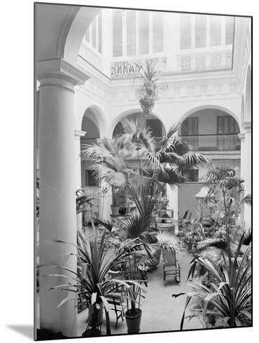 Courtyard, Hotel Florida, Havana, Cuba--Mounted Photo