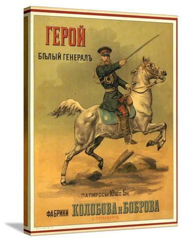 Tsarist White General Cigarettes from St. Petersburg--Stretched Canvas Print