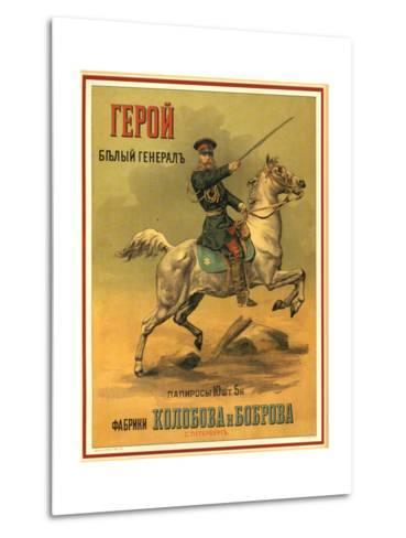 Tsarist White General Cigarettes from St. Petersburg--Metal Print