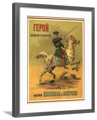 Tsarist White General Cigarettes from St. Petersburg--Framed Art Print