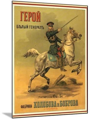 Tsarist White General Cigarettes from St. Petersburg--Mounted Art Print