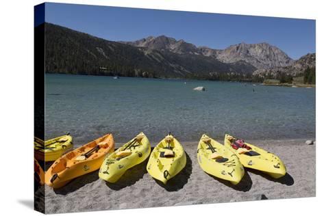 Kayaks - June Lake- Mono County, California-Carol Highsmith-Stretched Canvas Print