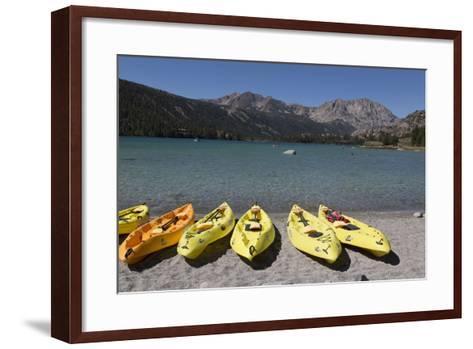 Kayaks - June Lake- Mono County, California-Carol Highsmith-Framed Art Print