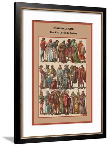 English Costume First Half of the XV Century-Friedrich Hottenroth-Framed Art Print