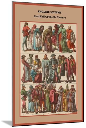 English Costume First Half of the XV Century-Friedrich Hottenroth-Mounted Art Print