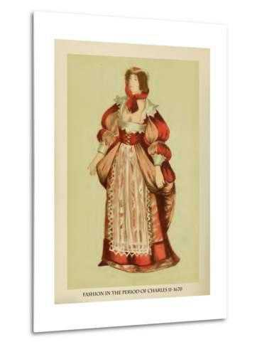 Fashion in the Period of Charles II-Lewis Wingfield-Metal Print
