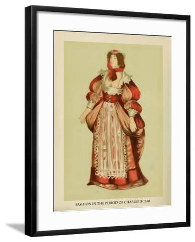 Fashion in the Period of Charles II-Lewis Wingfield-Framed Art Print