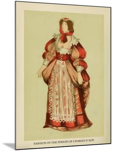 Fashion in the Period of Charles II-Lewis Wingfield-Mounted Art Print