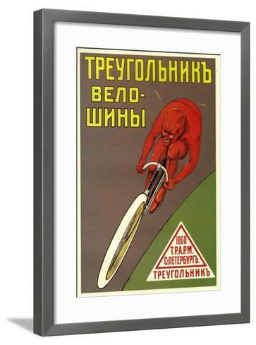 Triangle Bicycle Tires--Framed Art Print
